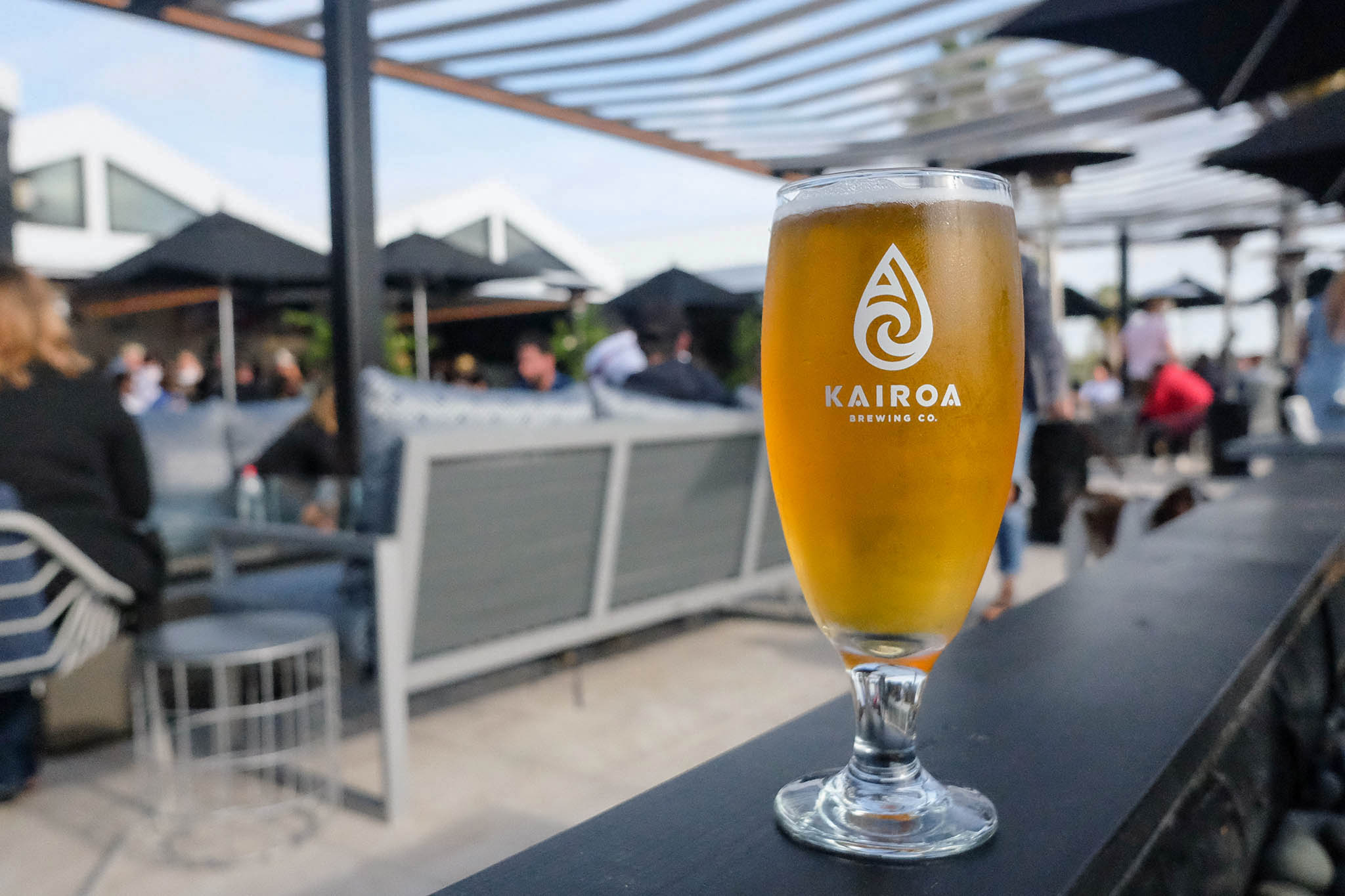The Back Paddock New Zealand-style pilsner, made with New Zealand hops at Kairoa Brewing